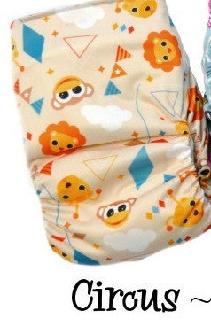 Bottombumpers Size 1 Front Snap Cloth Diaper - Circus