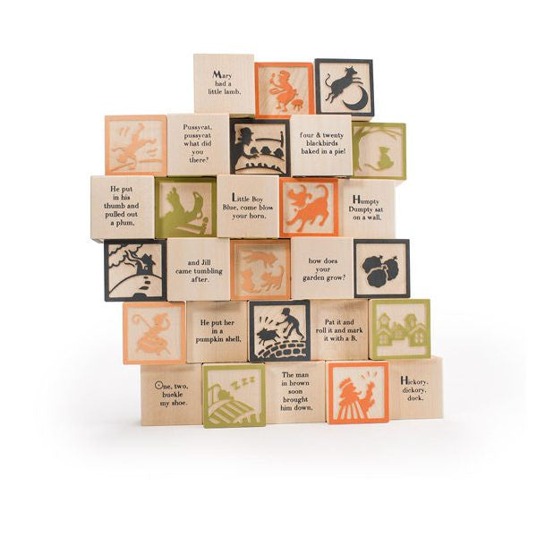 Uncle Goose Nursery Rhyme Blocks - 28 Block Set
