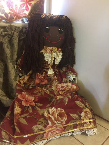 """Christina"" - Our Christmas Rag Doll - http://www.dollsbybertrand.com/store"