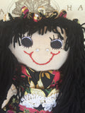 """Crystal"" Our Christmas doll -  -  - http://www.dollsbybertrand.com/store  - 2"