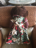 """Hanna Holiday"" Our Christmas Rag Doll -  -  - http://www.dollsbybertrand.com/store  - 3"