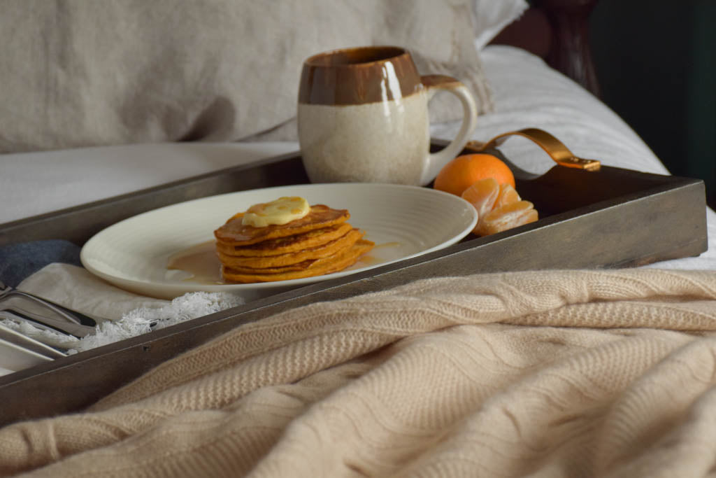 breakfast in bed linen cashmere