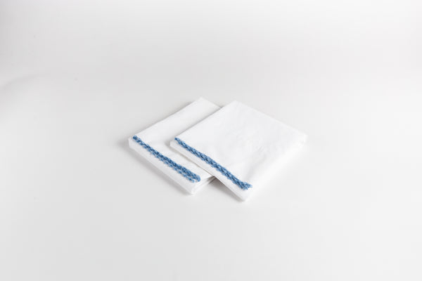 Cotton Percale Pillowcases - Soothing Blue