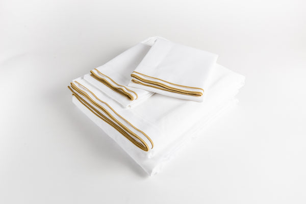 Cotton Sateen Sheet Set - Golden Bronze