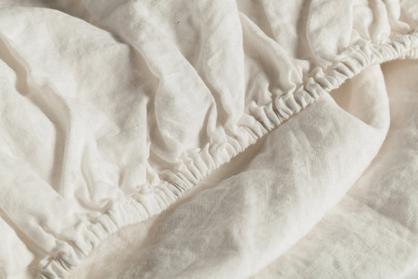 Calming Cream Fitted Sheet Detail