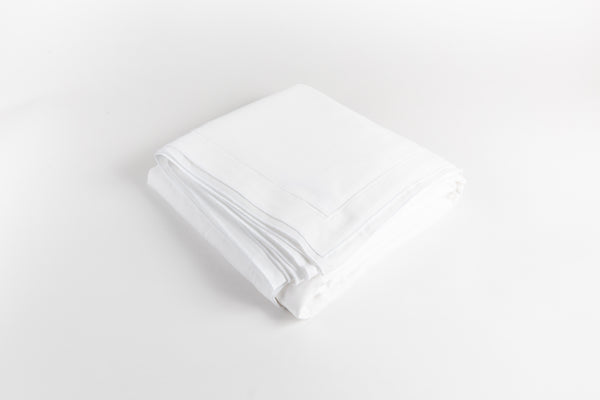 Cotton Sateen Duvet Cover - Dove White