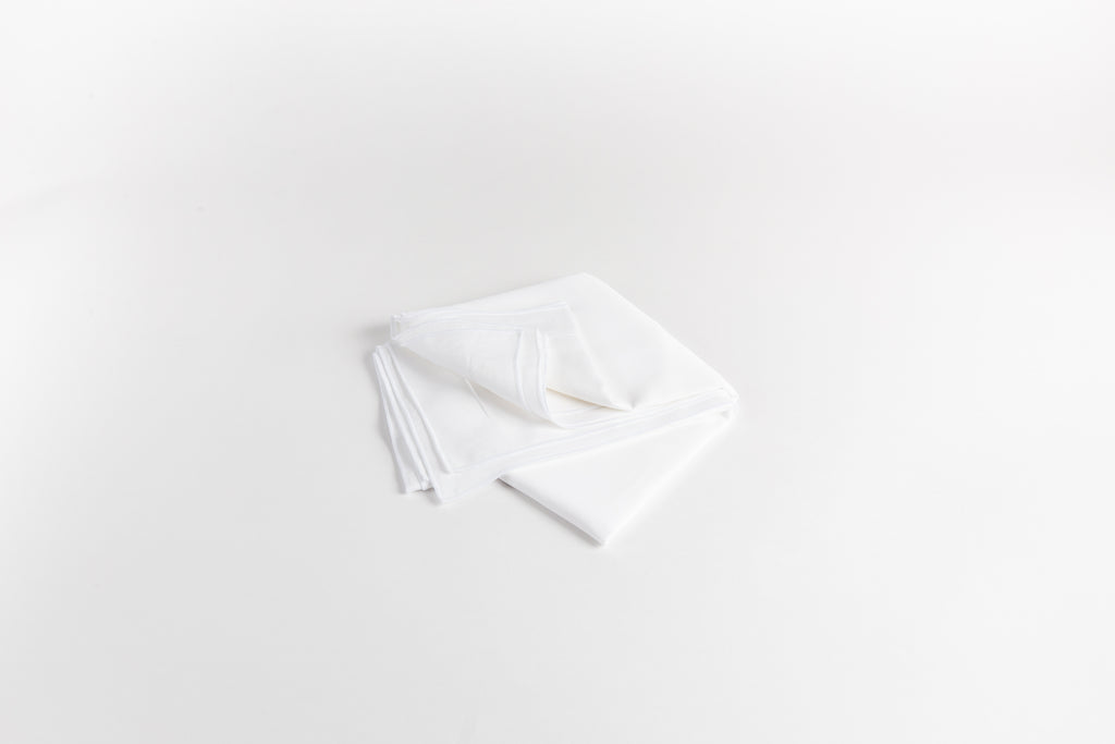 Cotton Sateen Shams - Dove White