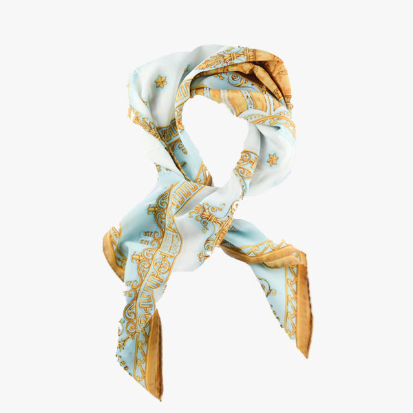 Chaflin Sitting Room Medallion Silk Scarf