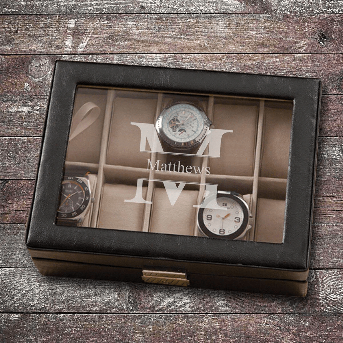 Retirement Gift For Dad Personalized Leather Watch Box