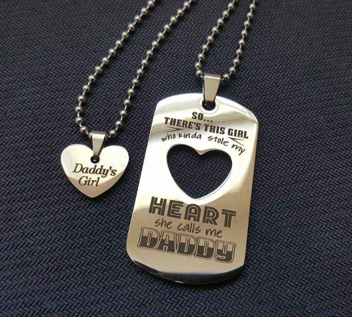 daddy s girl necklace set stainless steel dads are awesome