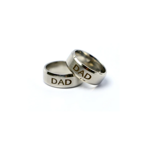 Dad Custom Stainless Steel Ring