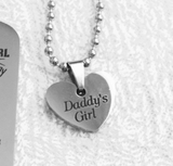 Daddy's Girl Heart Necklace