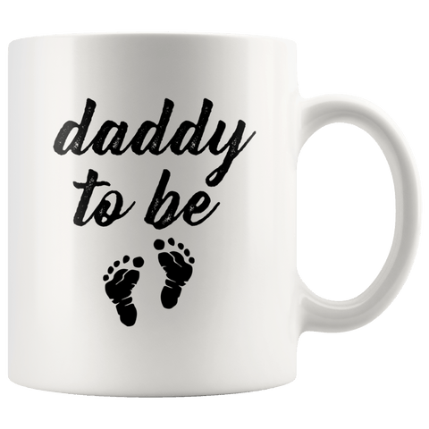 Dad To Be Mug Little Feet Daddy To Be Gift
