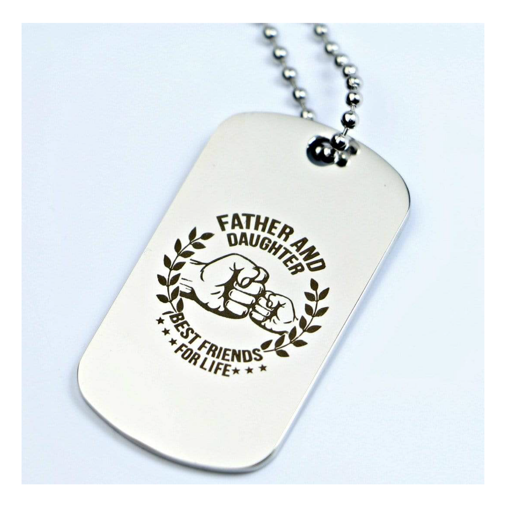 Father And Daughter Best Friends Dog Tag