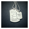 Daddy's Hero Necklace Set