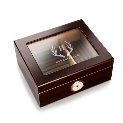 Personalized Humidor Retirement Gift For Dad
