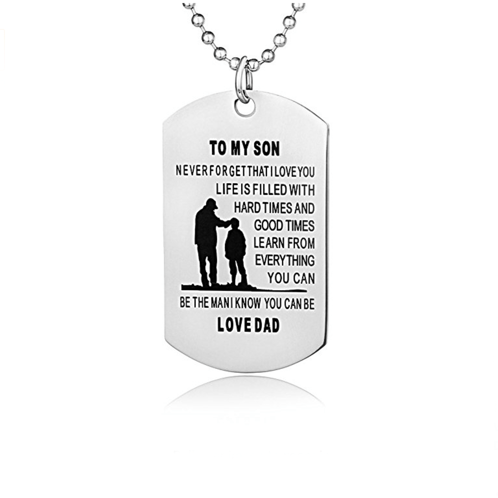 to my son stainless steel dog tag dads are awesome