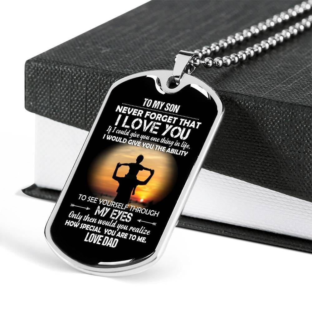 to my son dog tags