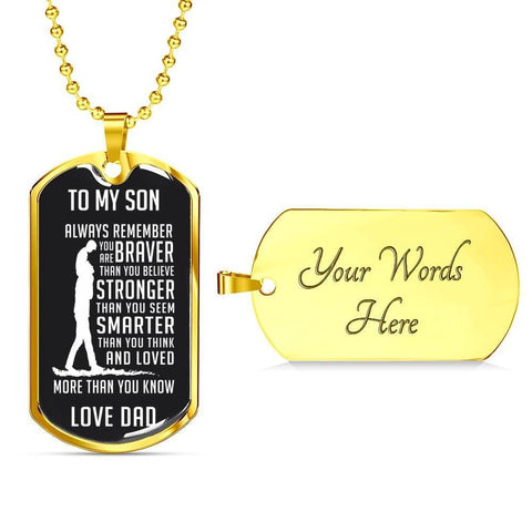 Always Remember Son Custom Dog Tag