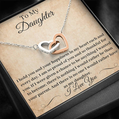 Father Daughter Necklace I Hold You