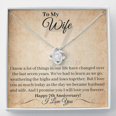 7 Year Anniversary Gift For Wife Necklace I Will Love You Forever