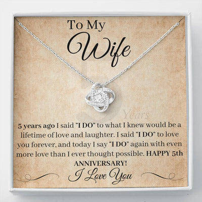 5 Year Anniversary Gift For Wife I Said I Do Necklace