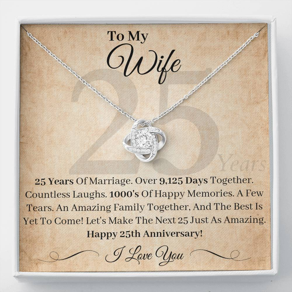 25th Anniversary Gifts Wife The Best Is Yet To Come Necklace