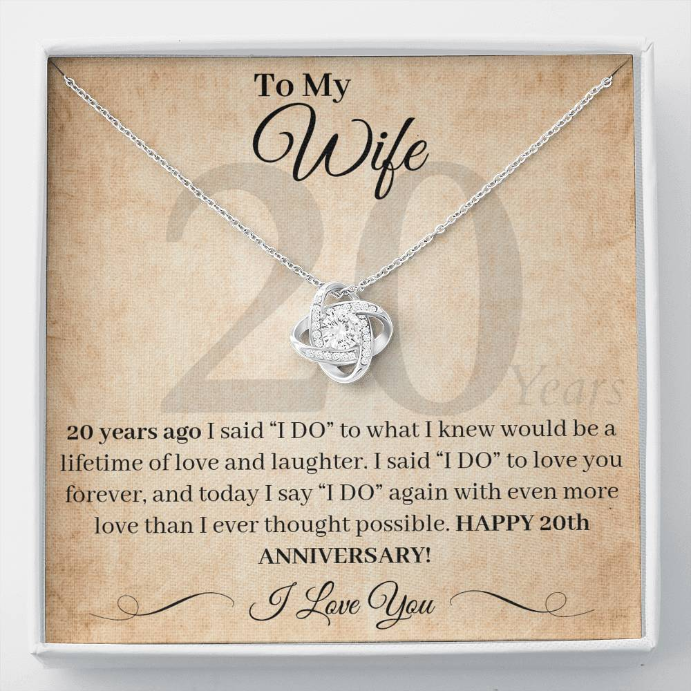 20 Year Anniversary Gift For Wife I Said I Do Necklace