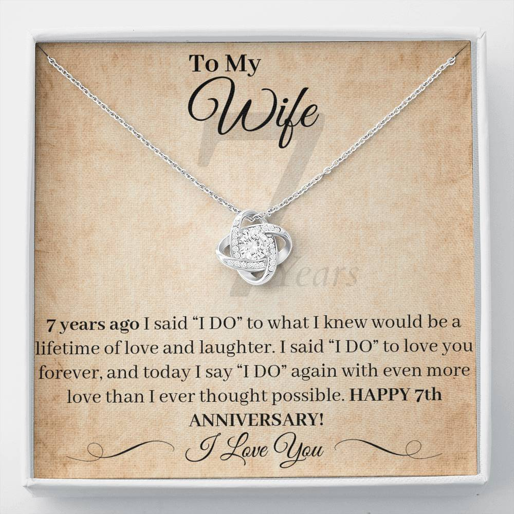 7 Year Anniversary Gift For Wife Necklace 7 Years Of Marriage