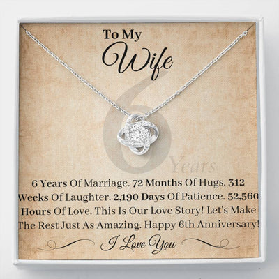 6 Year Anniversary Gift For Wife Necklace This Is Our Love Story