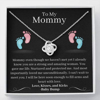 Expectant Mom Pregnancy Necklace New Mom Gift I Can't Wait To Meet You New Mom Jewelry