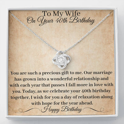 40th Birthday Gift Wife Necklace You Are A Precious Gift