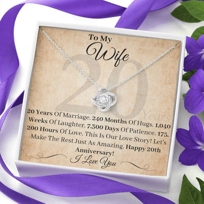 20 Year Anniversary Gift For Wife This Is Our Love Story Necklace