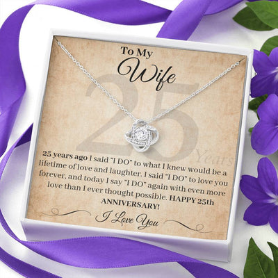 25th Anniversary Gifts For Wife I Said I Do Necklace