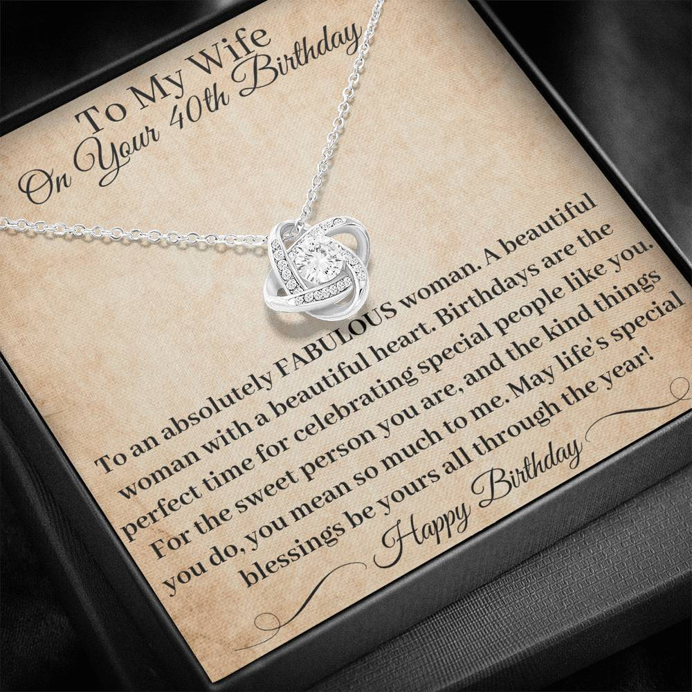40th Birthday Gift Wife You Mean So Much To Me Necklace