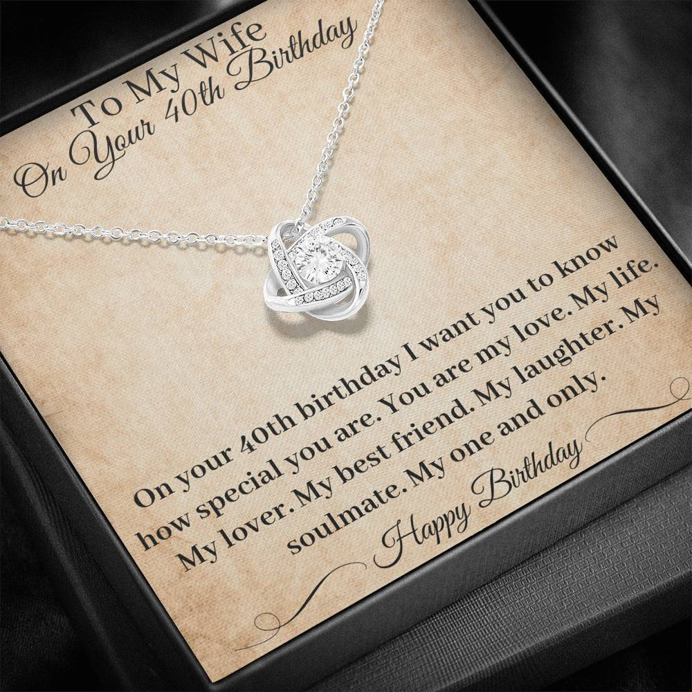 40th Birthday Gift Wife Necklace You Are My Best Friend