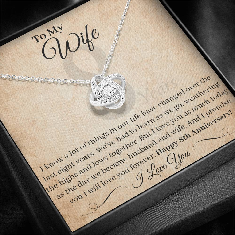 8 Year Anniversary Gift For Wife I Love You As Much Today Necklace