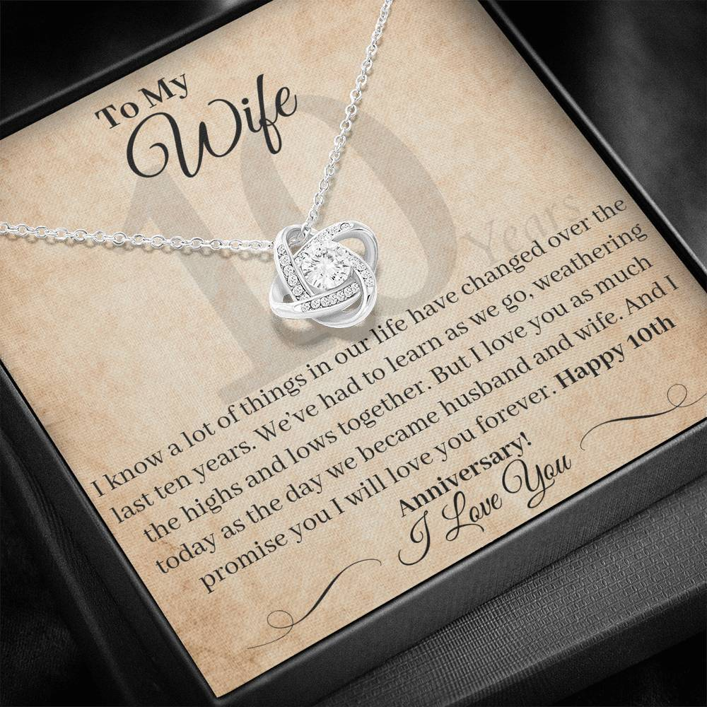 10 Year Anniversary Gift For Wife I Love You As Much Today Necklace
