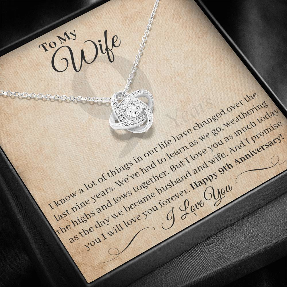 9 Year Anniversary Gift For Wife I Love You As Much Today Necklace