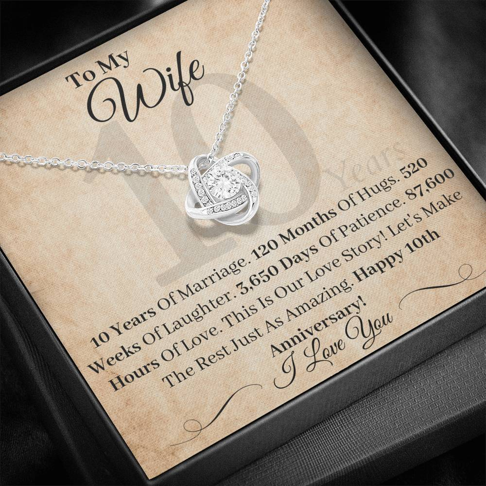 10 Year Anniversary Gift For Wife This Is Our Love Story Necklace