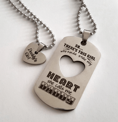 daddy daughter necklaces father daughter necklace set