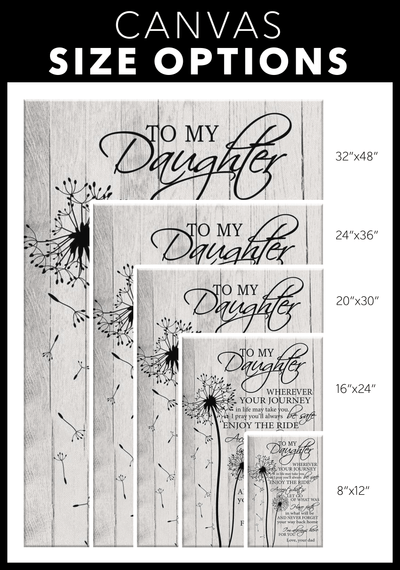 Daughter Wherever Your Journey Canvas