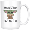 Yoda Best Dad Ever Coffee Mug