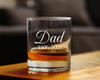 Personalized Dad Whiskey Glass