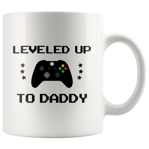 Dad To Be Mug Leveled Up To Daddy New Dad Gift