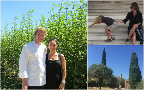 Celine Labaune and Chef Tim Otium in Southern France