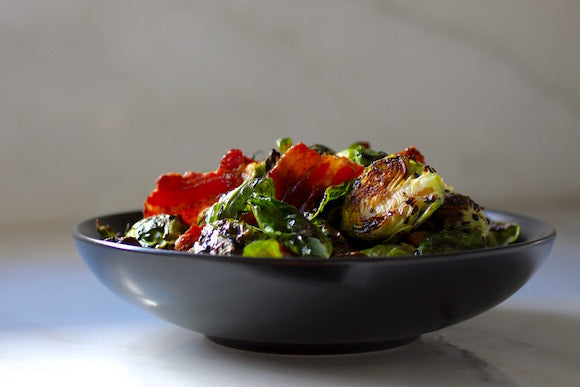 Salad bowl - Brussel sprouts and bacon