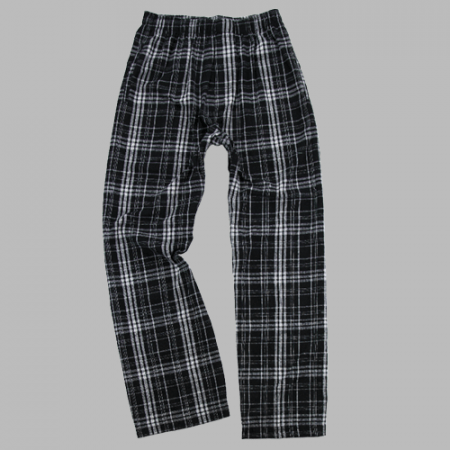 GUYS & CO. - Boys Black Plaid Flannel Pant (6141249978520)