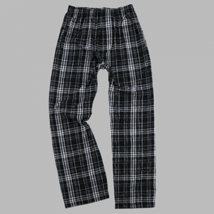 GUYS & CO. - Boys Black Plaid Flannel Pant