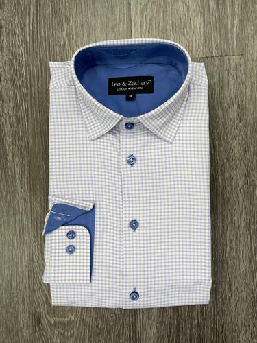LEO & ZACHARY - Boy's Dress Shirt 5772 (6158882701464)